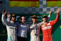 Podium: winner Nico Rosberg, Mercedes AMG F1 Team, second place Lewis Hamilton, Mercedes AMG F1 Team, third place Sebastian Vettel, Ferrari
