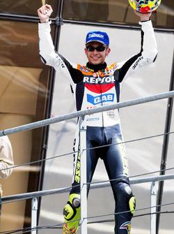 Podium: second place Valentino Rossi, Repsol Honda Team