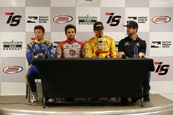 Marco Andretti, Andretti Autosport Honda, Carlos Munoz, Andretti Autosport Honda, Ryan Hunter-Reay, Andretti Autosport Honda, Alexander Rossi, Herta - Andretti Autosport Honda