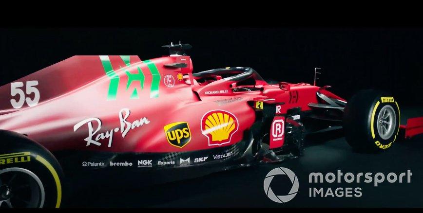 Captura de pantalla del nuevo Ferrari.