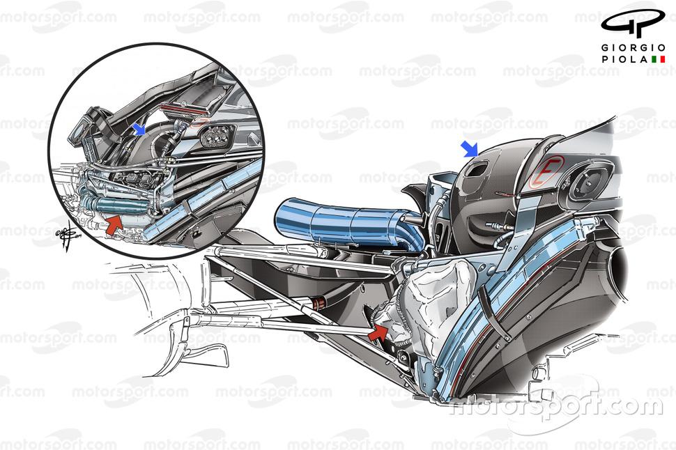 Mercedes AMG F1 W06 exhaust
