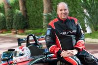 Formula E Photos - Prince Albert II drives the Venturi Formula E near the palace
