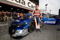 Dani Pedrosa and the Honda NSX Concept-GT car