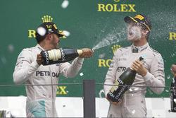 Podium: race winner Lewis Hamilton, Mercedes AMG F1, second place Nico Rosberg, Mercedes AMG F1