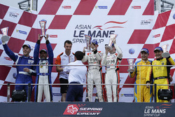 Podium: winners #67 PRT Racing Ginetta LMP3: Ate de Jong, Charlie Robertson, second place #27 Nexus Infinity ADESS 03: Adrian D'Silva, Garnet Patterson, third place #48 PS Racing ADESS 03: Ringo Chong, Alan Yeo