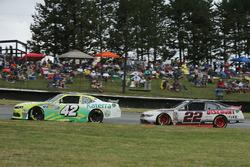 Justin Marks, Chip Ganassi Racing Chevrolet, Ryan Blaney, Team Penske Ford