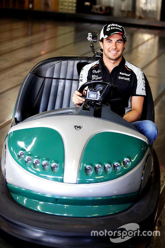 Sergio Perez, Sahara Force India F1 visits Luna Park