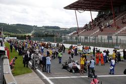 Starting grid, George Russell, HitechGP, Dallara F312 - Mercedes-Benz