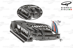 Williams FW38 front wing, Hungarian GP