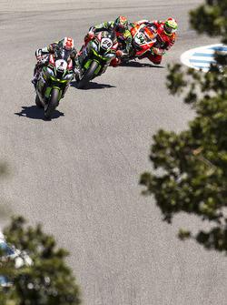Jonathan Rea, Kawasaki Racing, Tom Sykes, Kawasaki Racing, Davide Giugliano, Ducati Team