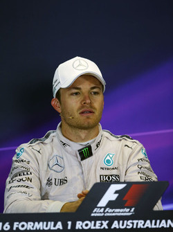Race winner Nico Rosberg, Mercedes AMG F1 in the press conference