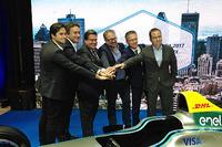 Formula E Photos - (L-R) Nelson Piquet Jr., NEXTEV TCR Formula E Team, Alejandro Agag, CEO of Formula E, Denis Coderre, Mayor of Montréal, Alexandre Taillefer, Honorary president, Sylvain Vincent, Montréal c'est électrique president and Geoff Molson