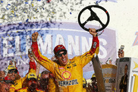 NASCAR Sprint Cup Photos - Race winner Joey Logano, Team Penske Ford