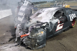 Wrecked car of Brad Keselowski, Team Penske Ford