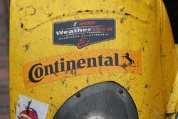 Winning car #85 JDC/Miller Motorsports ORECA FLM09: Chris Miller, Mikhail Goikhberg, Stephen Simpson, Kenton Koch detail