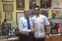 WSBK Foto - Giampiero Sacchi, proprietario del team IodaRacing Project e Leandro Mercado