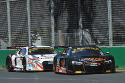 #4 Supabarn Supermarkets  Audi R8 LMS: Marcus Marshall, James Koundouris and #1 JAMEC PEM Audi R8 LMS: Christopher Mies, Geoff Emery