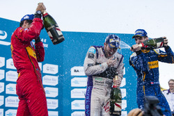 Podium: Winner Sam Bird, DS Virgin Racing Formula E Team; second place Sébastien Buemi, Renault e.Dams; thrid place Lucas di Grassi, ABT Schaeffler Audi Sport