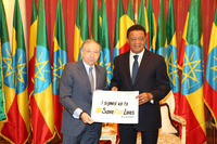 Automotive Photos - Jean Todt, FIA president with Ethiopian President Mulatu Teshome