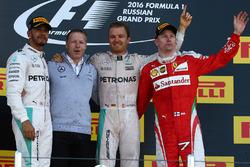 Podium: winner Nico Rosberg, Mercedes AMG F1 Team, second place Lewis Hamilton, Mercedes AMG F1 Team, third place Kimi Raikkonen, Ferrari