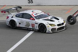 #100 BMW Team RLL BMW M6 GTLM: Lucas Luhr, John Edwards, Kuno Wittmer, Graham Rahal hits a rogue tire
