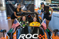 General Photos - Kurt Busch and Ryan Hunter-Reay with the lovely ROC girls