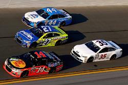 Brian Vickers, Stewart-Haas Racing Chevrolet, Paul Menard, Richard Childress Racing Chevrolet, Brian Scott, Richard Petty Motorsports Ford, David Gilliland, Front Row Motorsports Ford