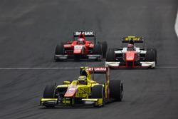 Sean Gelael, Pertamina Campos Racing leads Daniel de Jong (NED, MP Motorsport and Nabil Jeffri, Arden International