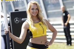 Grid girl of Christian Vietoris, Mercedes-AMG Team Mücke, Mercedes-AMG C63 DTM
