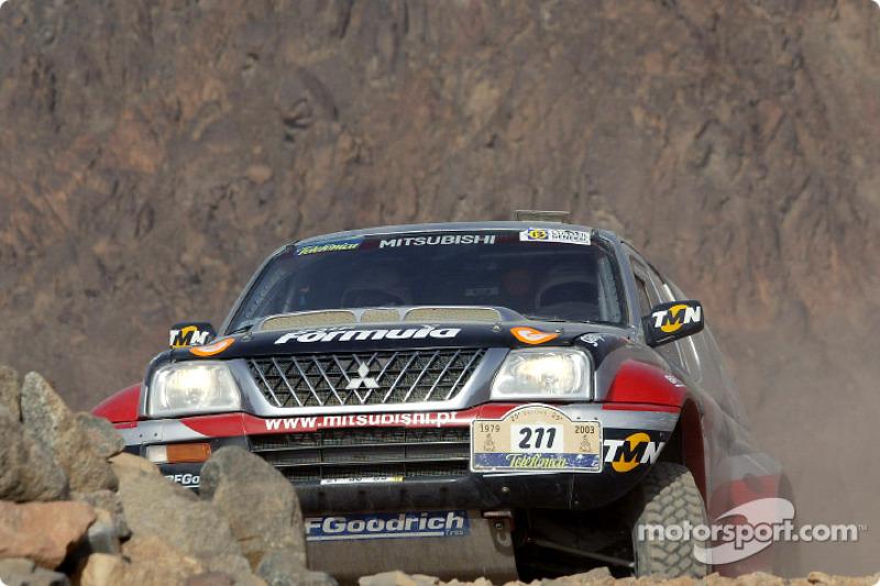 Dakar: Mitsubishi stage 16 report