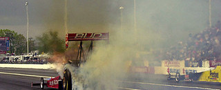 NHRA Brandon Bernstein crashes at Englishtown