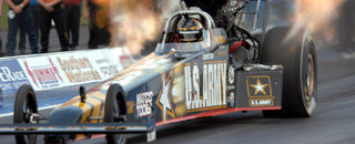 NHRA Schumacher walks away from wrecked dragster