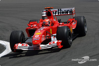 Schumacher flies to pole for European GP