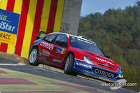Loeb in first after three-way battle in Rally Catalunya