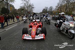 Ferrari paints Paris red