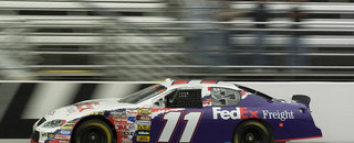 NASCAR Sprint Cup Hamlin fastest in Martinsville Happy Hour