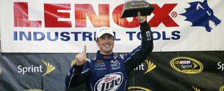 Kurt Busch grabs rain-ending Loudon victory