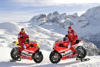 Ducati in the spotlight at Wrooom Ski Meeting