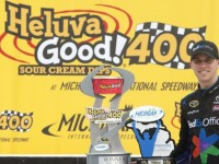 Hamlin Fends Off Kenseth For Victory In Michigan