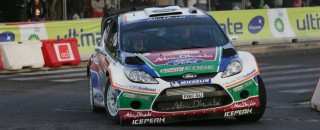 Ford Fiesta lands on tarmac for Rally Deutschland