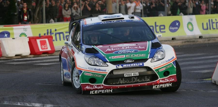 Ford Fiesta lands on tarmac for Rally Deutschland
