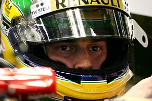 Lotus Renault's Bruno Senna about the Indian Grand Prix