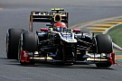 Mixed fortunes for Lotus during qualifying for Australian GP