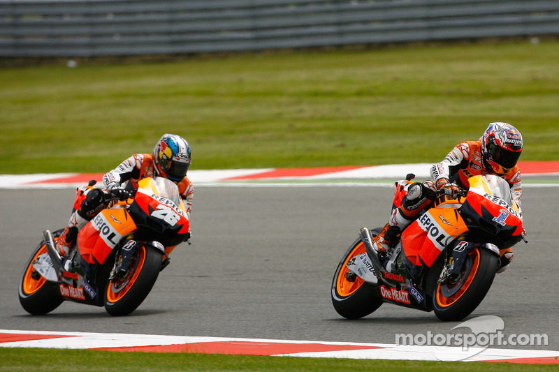Stoner and Pedrosa return to the podium at Silverstone