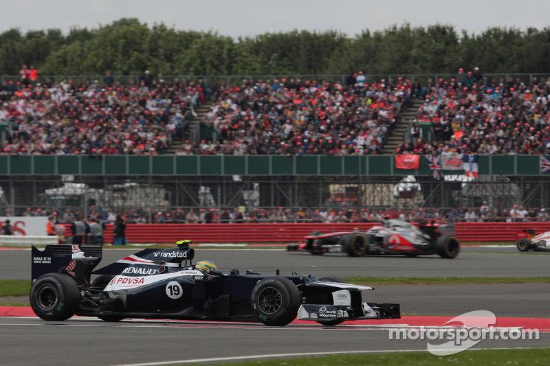 Senna top ten finisher for Williams' homeland British GP race