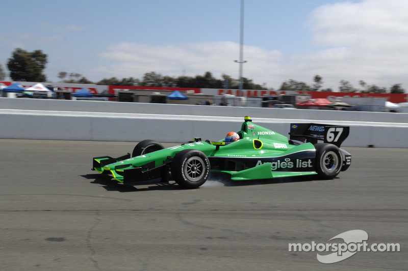Sarah Fisher looking for speed in Sonoma