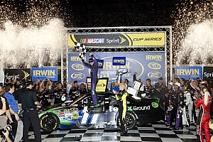 NASCAR Sprint Cup Race report Hamlin takes Toyota to the win at Bristol 500