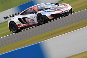 Blancpain Sprint Race report McLaren wins race 1 in Donington as title fight will go down to the wire