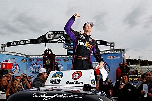 NASCAR Truck Race report Hamlin goes from last to first at Martinsville