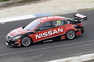 Supercars Breaking news Todd Kelly takes Nissan Altima on track for its first shakedown